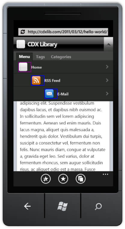 Navigation with WPTouch